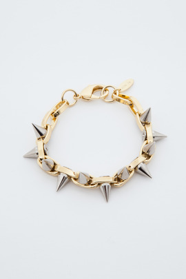 Joomi Lim Gold/Silver Double Row Spike Bracelet
