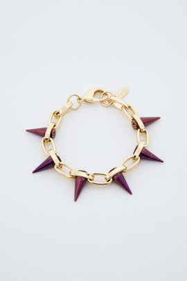 Joomi Lim Gold/Purple Single Row Spike Bracelet