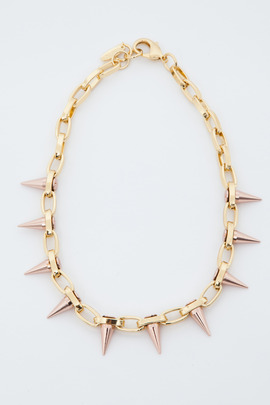 Joomi Lim Gold/Rose Gold Single Row Spike Choker