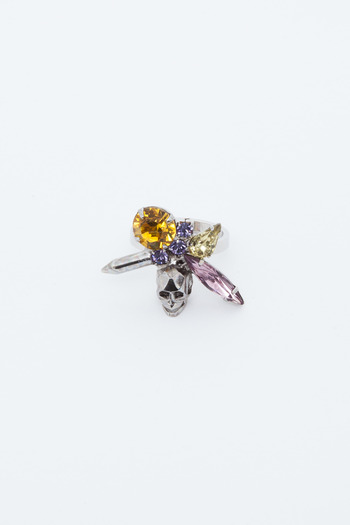 Joomi Lim - Split Crystal/Skull Ring