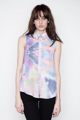 Cameo Revelry Sleeveless Printed Shirt