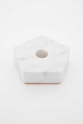 Fort Standard Pentagon Marble Candle Holder