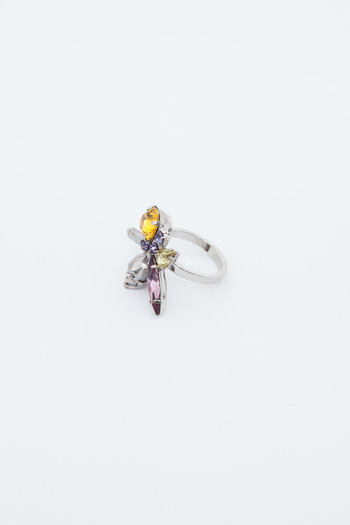 Joomi Lim - Split Crystal/Skull Ring
