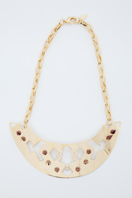 Joomi Lim Modern Tribe Spiked Plate Necklace