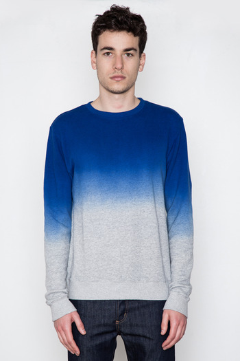 Robert Geller - Exclusive Cobalt Dip-Dye Sweatshirt