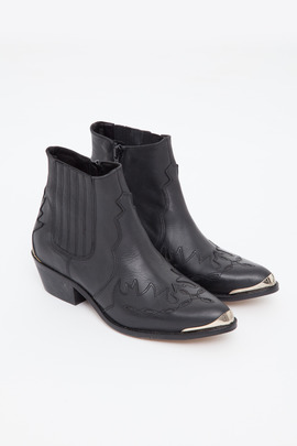 To Be Announced Black Pony Ankle Boot