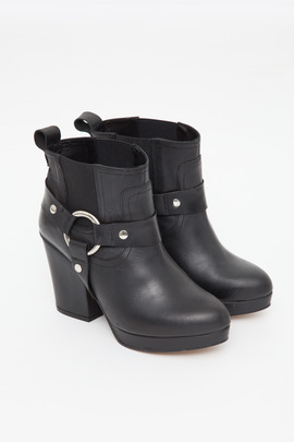 To Be Announced Black Punch Harness Boot