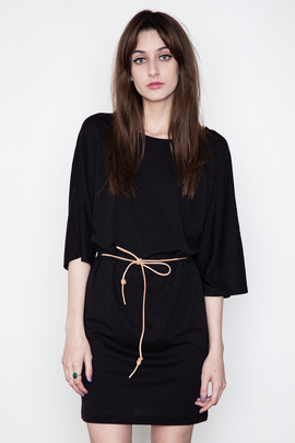 Minimarket Black Issa Belted Dress