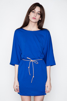 Minimarket Cobalt Blue Issa Belted Dress