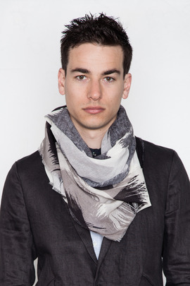 Robert Geller Brush Stroke Print Scarf