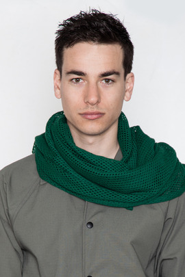Robert Geller Green Machine Knit Scarf
