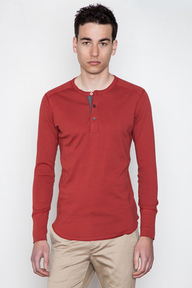 Wings + Horns Rust L/S Henley