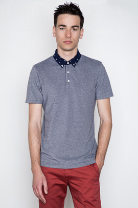 Wings + Horns Ikat Collar Pique Polo