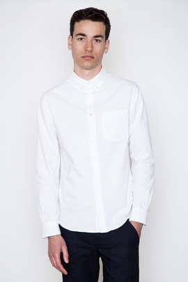 Wings + Horns White L/S Oxford
