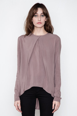 SILENT Women's Blush Selco Pleated Top