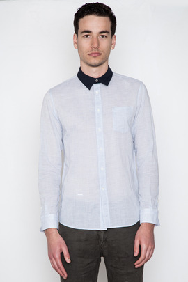 Robert Geller Contrast Collar Shirt