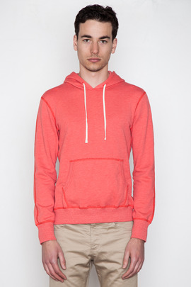 Reigning Champ Heather Red Pullover Hoodie