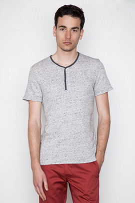 Reigning Champ Heather Ash S/S Fine Loop Henley