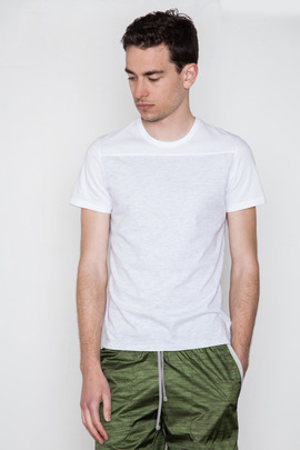 Reigning Champ White Two-Tone S/S Tee