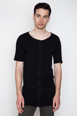 SILENT Men's Vintage Black Torp Panelled Tee