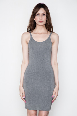 T by Alexander Wang Women's Heather Grey Modal Cami Tank Dress