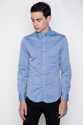 Gitman Bros. Vintage Blue Summer Chambray
