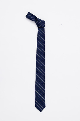 Gitman Bros. Vintage Navy/Natural Stripe Silk Tie
