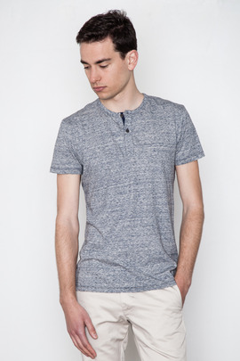 Wings + Horns Static Marled S/S Henley