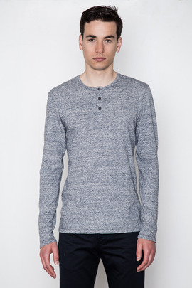 Wings + Horns Static Marled L/S Henley