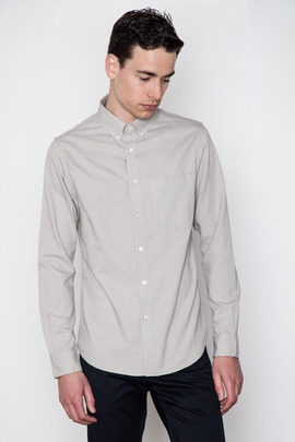 Wings + Horns Grey L/S Oxford