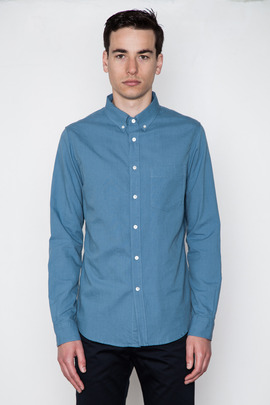 Wings + Horns Union Blue L/S Oxford
