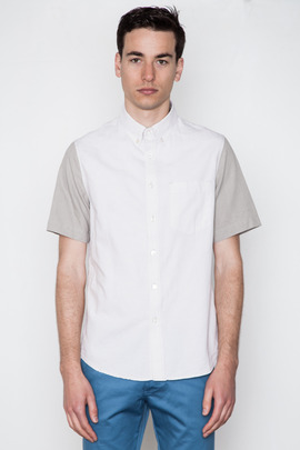 Wings + Horns S/S Color Block Striped Shirt