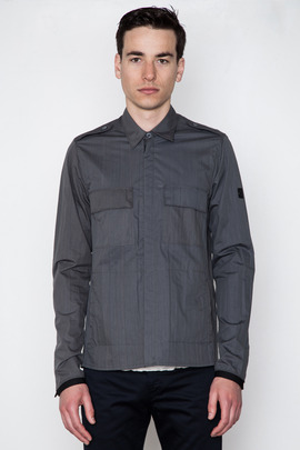 ISAORA Garment-Dyed Patch Pocket Shirt Jacket