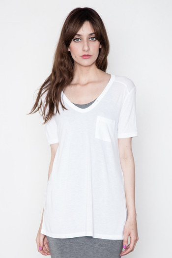 T by Alexander Wang Women's - White Classic Tee w/ Pocket