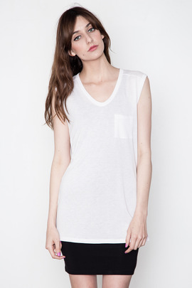 T by Alexander Wang Women's Magnolia Muscle Tee w/ Pocket