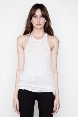 T by Alexander Wang Women's Magnolia Linen/Silk Tank Top