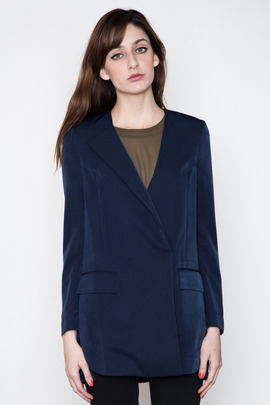 Kai-aakmann Women's Pleated Back Blazer