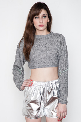 Ann-Sofie Back Shoelace Crop Sweat Top