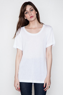 BLK DNM Women's White T-Shirt 2