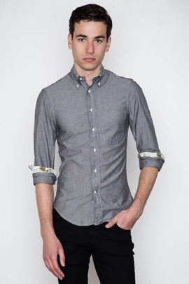 Gitman Bros. Vintage Exclusive Grey Chambray w/ White Aloha