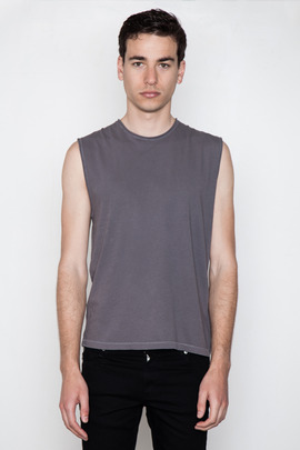 T by Alexander Wang Men's Pigment-Dyed Muscle Tee
