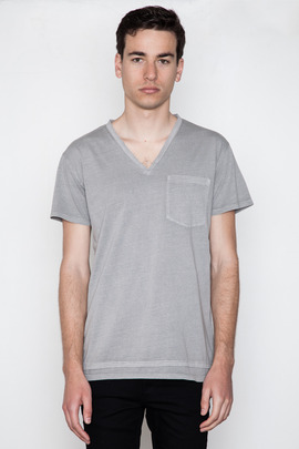 Cheap Monday Men's Ash Grey Tim V-Neck Tee