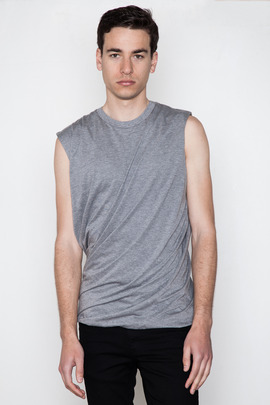 Kai-aakmann Men's Double-Layered Muscle Tee