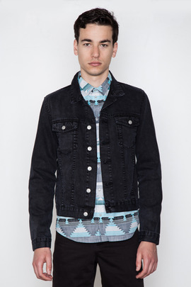 Cheap Monday Men's Washed Black Tobias Jean Jacket
