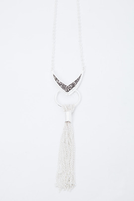 Lady Grey Vex Tassel Necklace