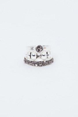 Lady Grey Stacked Rings