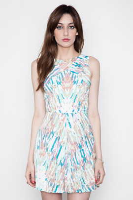Addison Houston Inverted Pleat Dress