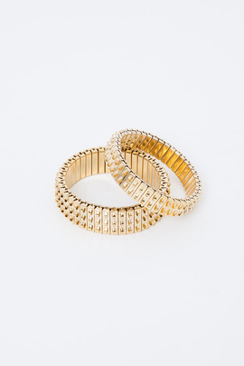 Lady Grey Gold Banded Bracelets