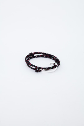 Miansai Silver/Black-Red Hooked Rope Bracelet