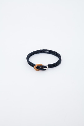 Miansai Navy/Khaki Savoy Leather Bracelet